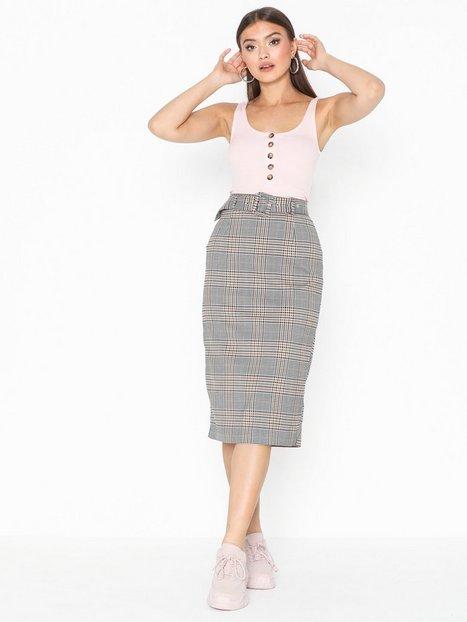Billede af Only Onladriana Midi Check Skirt Wvn Midi nederdele