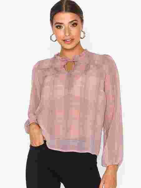 539d666f6f968f Bisa Check Blouse - Neo Noir - Powder - Blouses & Shirts - Clothing ...