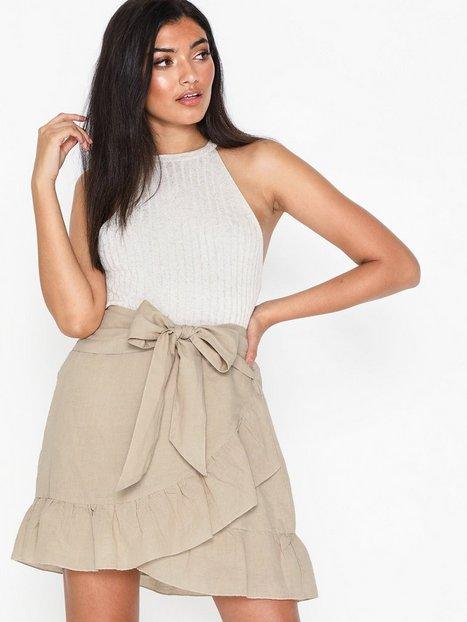Billede af Neo Noir Bella Linen Skirt Mini nederdele