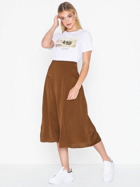 Pieces Pcsandra Hw Midi Skirt D2D Midi nederdele   Brun  