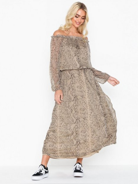 Billede af Neo Noir Adora Snake Dress Loose fit dresses
