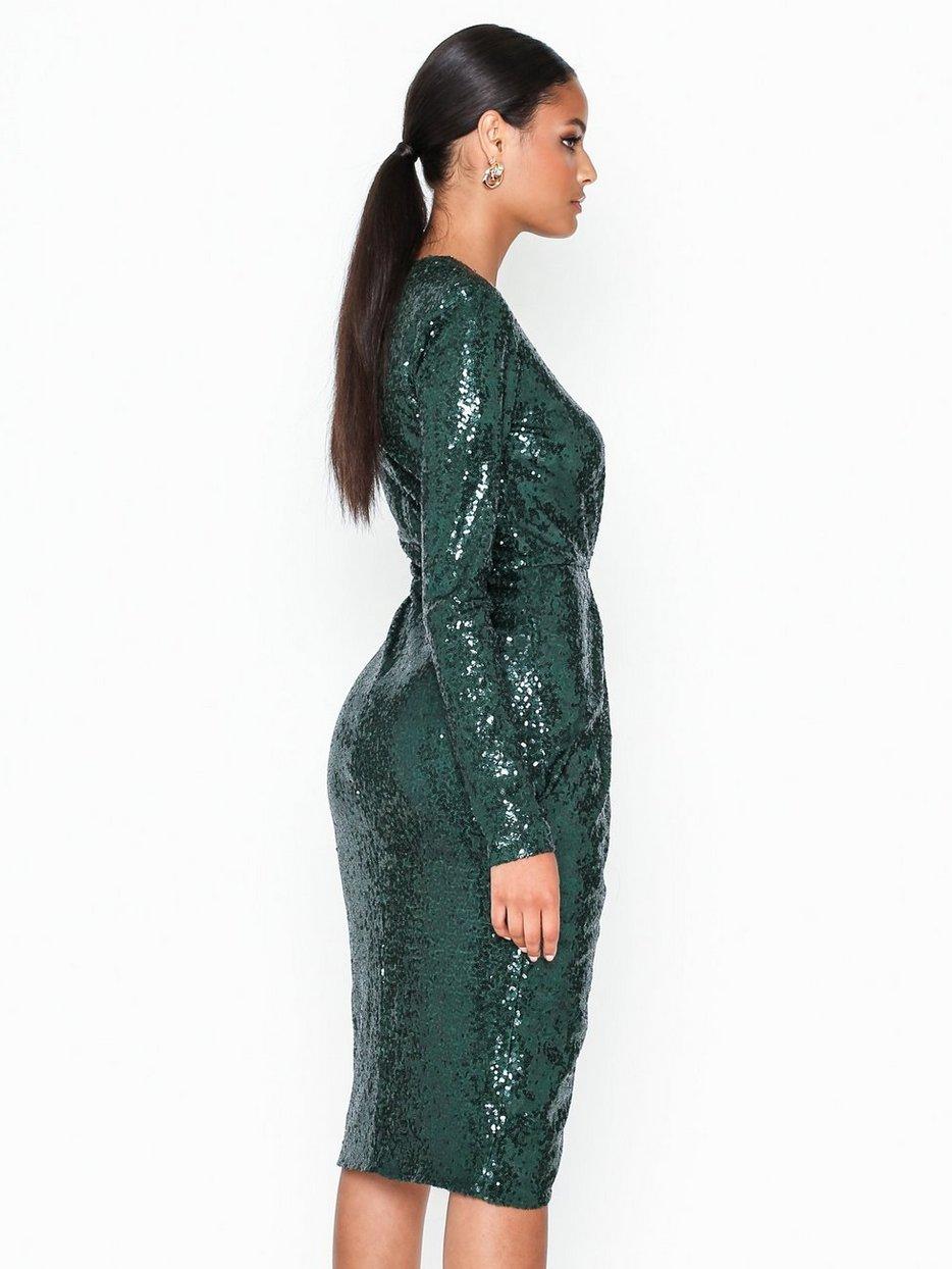 NLY One Lace Slit Dress Fodralklänningar Svart (NELLY