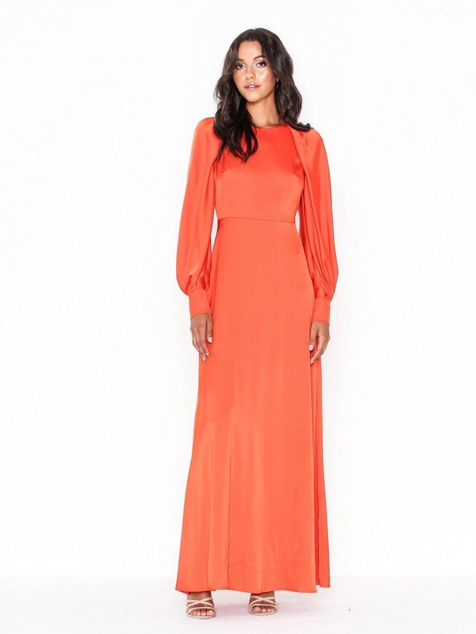 orange klänning nelly