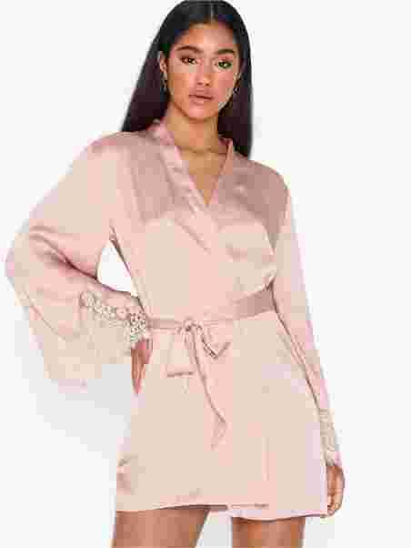 819c9777b29 Kimono Satin Big Scallop - Hunkemöller - Rose - Sleepwear ...