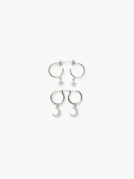 Billede af Pieces Pcamoona Hoop Earrings 2-Pack D2D Øreringe