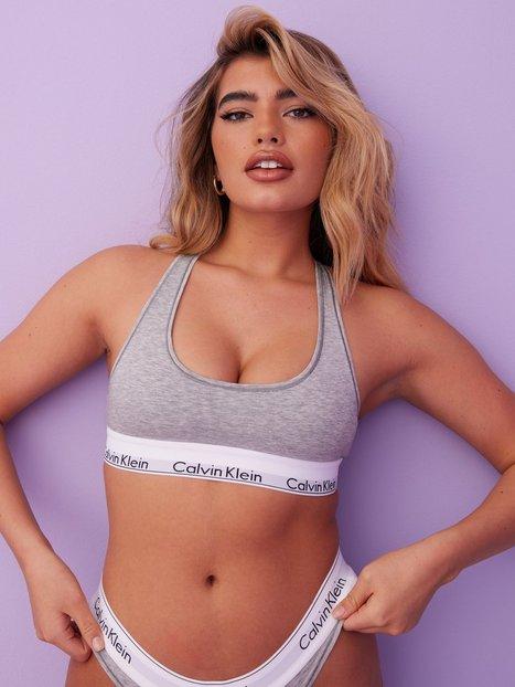 Billede af Calvin Klein Underwear Modern Cotton Bralette Bandeau & soft-bra Grey Melange