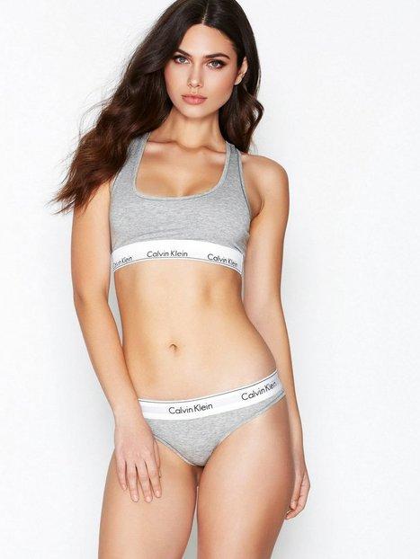 Billede af Calvin Klein Underwear Modern Cotton Thong G-streng Grå Melange