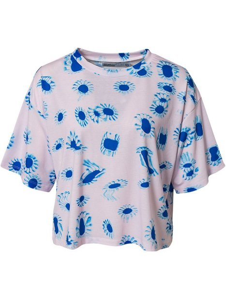 Distorted Flowers Square T-Shirt