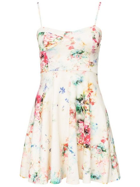 Summer Floral Scuba Skater Dress