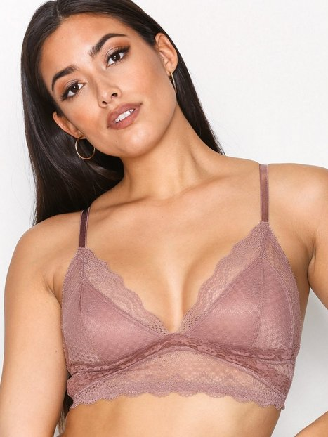 NLY Lingerie Soft Lace Bra Bandeau & Soft-Bra Dusty Pink thumbnail