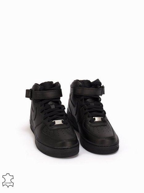 Billede af Nike Air Force 1 Mid '07 Leather High Top Sort