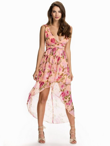 Floral High Low Dress - Nly One - Peach - Party Dresses - Clothing ...