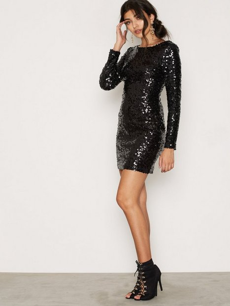 Scoop Back Sequin Dress