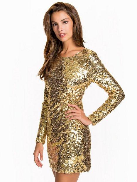 Billede af NLY One Scoop Back Sequin Dress Pailletkjoler Guld