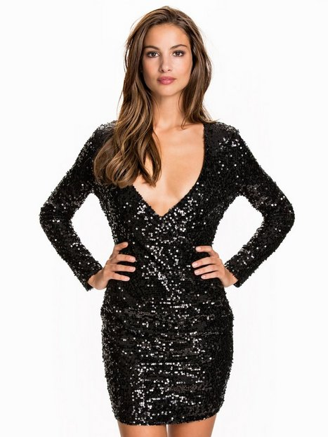 Wrap Sequin Dress
