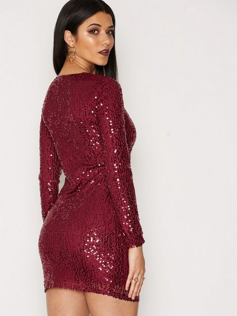 Wrap Sequin Dress