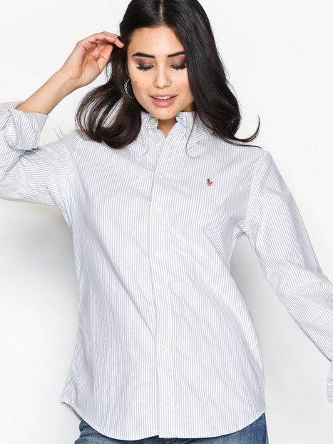 Harper Long Sleeve Shirt - Polo Ralph Lauren - Blau Weiss - Blusen   Hemden  - Kleidung - Damen - Nelly.de Mode Online 5f887778e6