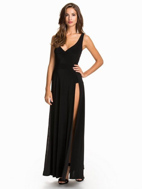 Bodysuit Maxi Dress - Nly One - Schwarz - Partykleider - Kleidung ...
