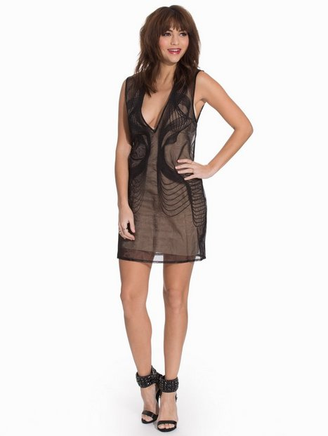 Billede af AQ/AQ Exo Noir Mini Dress Kropsnære kjoler Black