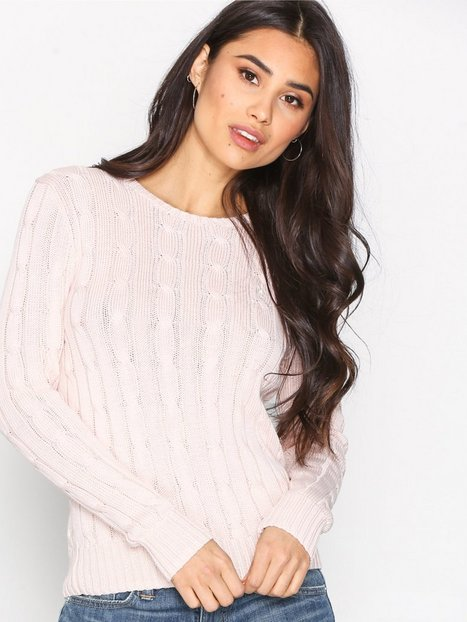 Polo Ralph Lauren Julianna Long Sleeve Sweater Stickade tröjor Pale Pink thumbnail