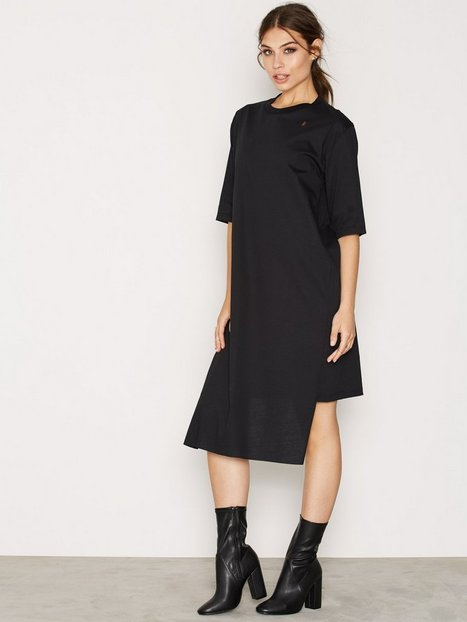Billede af BACK T-shirt Dress Loose fit dresses Black