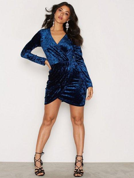 Lux Velour Wrap Dress