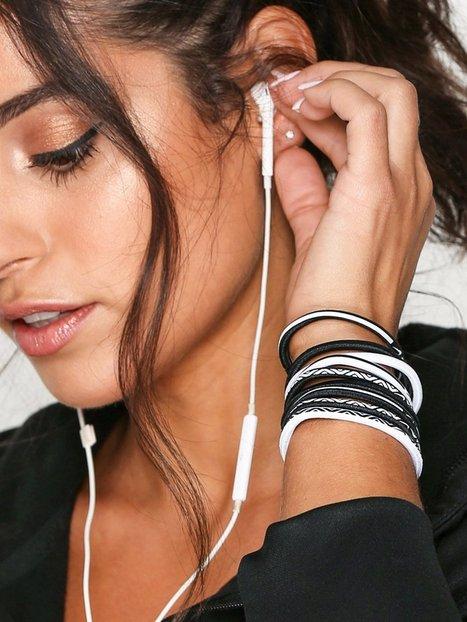 Billede af Nike Elastic Hairband 9-Pack Øvrigt Hvid/Sort