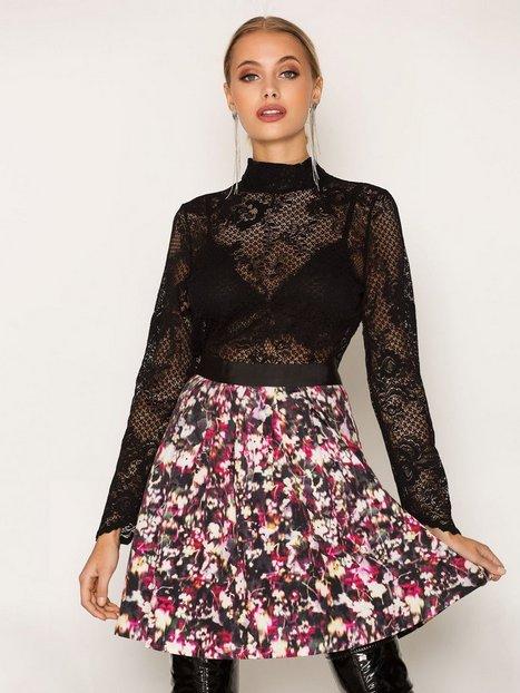 Billede af French Connection Midnight Bloom Ottoman Skirt Mini Nederdel Black