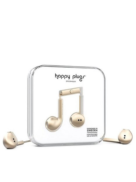 Billede af Happy Plugs Earbud Plus Høretelefoner Champagne