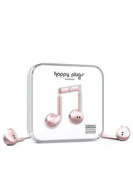 Billede af Happy Plugs Earbud Plus Høretelefoner Pink Gold