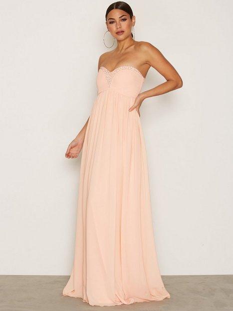 NLY Eve Sparkle Dream Gown Maksimekot Peach thumbnail