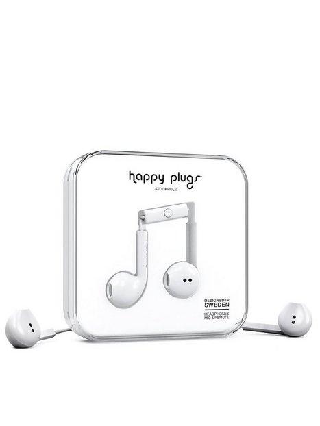 Billede af Happy Plugs Earbud Plus Hovedtelefoner Hvid