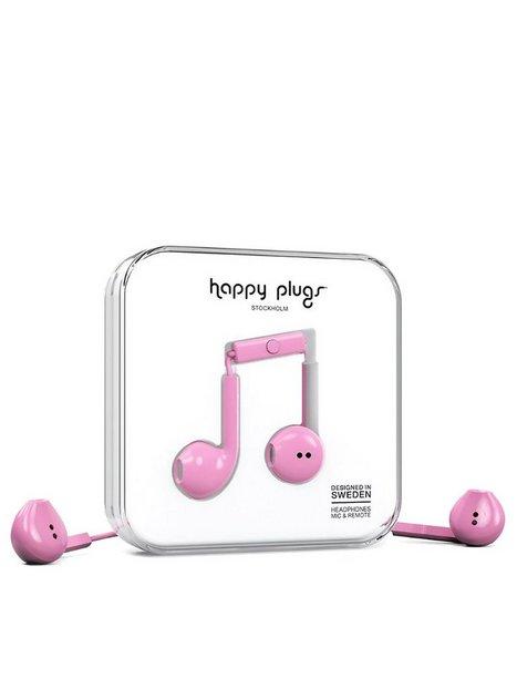 Billede af Happy Plugs Earbud Plus Høretelefoner Hot Pink