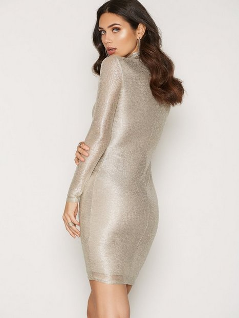 Turtle Neck Foil Dress