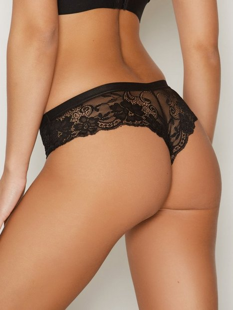 NLY Lingerie Sexy Back Lace Panty Hipsters Svart thumbnail