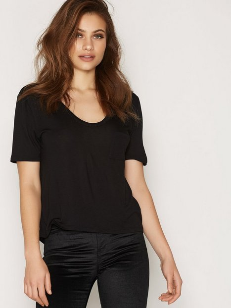 Billede af T By Alexander Wang Classic Cropped Tee T-shirt Black