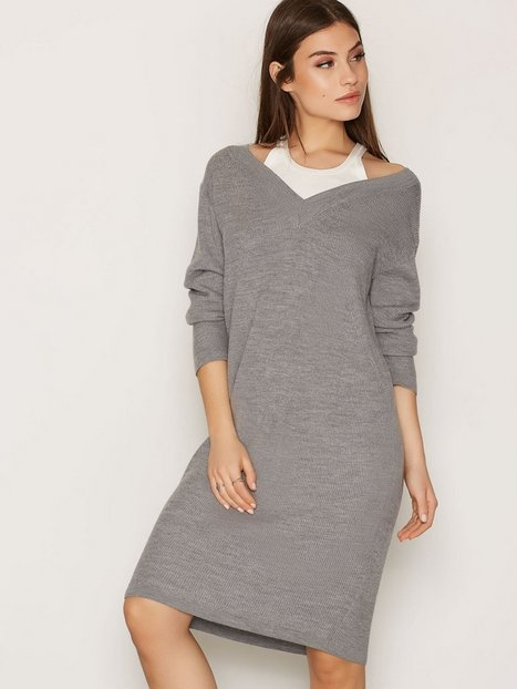 T By Alexander Wang Merino Pullover Dress Loose fit dresses Heather Grey thumbnail