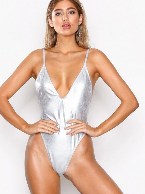 NLY Beach Girl Power Swimsuit Baddräkter Silver thumbnail