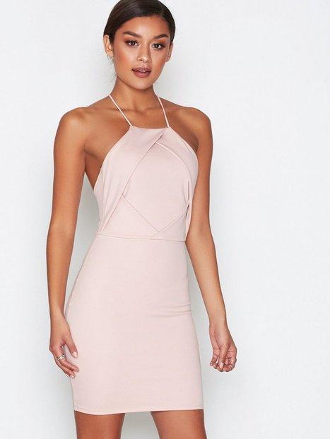NLY One Fold Over Bust Dress Kotelomekot Vaalea pinkki thumbnail