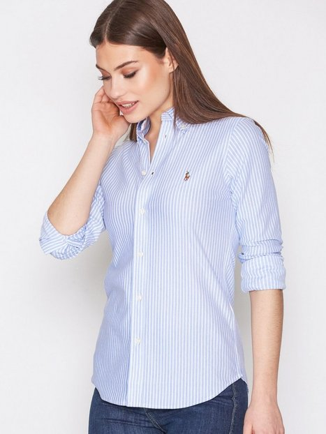 Long sleeve stripe heidi knit shirt polo ralph lauren for Polo ralph lauren striped knit dress shirt