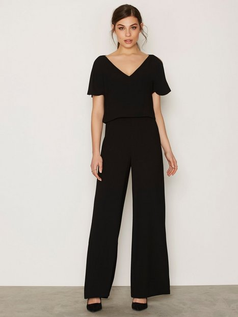 Polo Ralph Lauren Short Sleeve Eve Jumpsuit Jumpsuits Black thumbnail