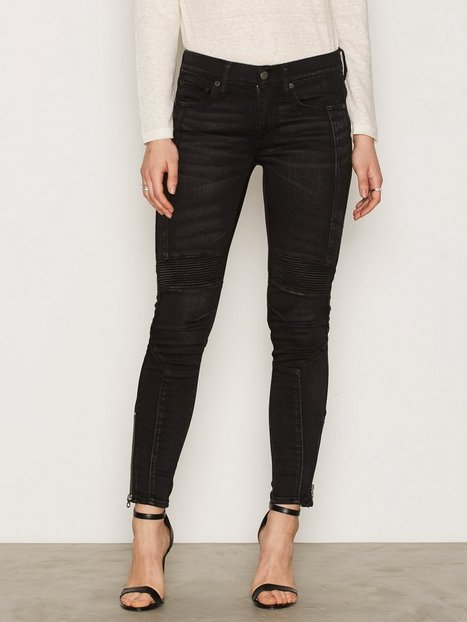 Polo Ralph Lauren Moto Denim Skinny Black thumbnail