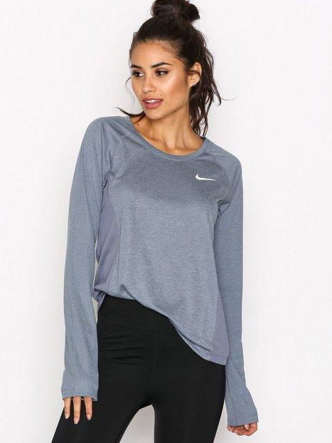 Billede af Nike NK Dry Miler Top LS Top Langærmet Blå