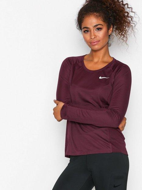 Billede af Nike NK Dry Miler Top LS Top Langærmet Bordeaux