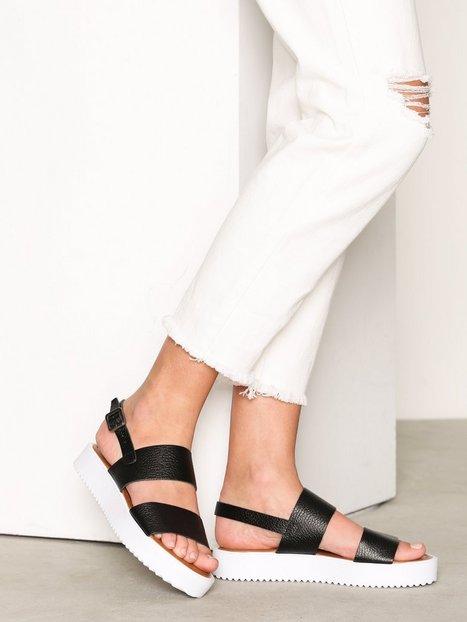 Billede af Bianco Flatform Strap Sandal Sandaler Sort