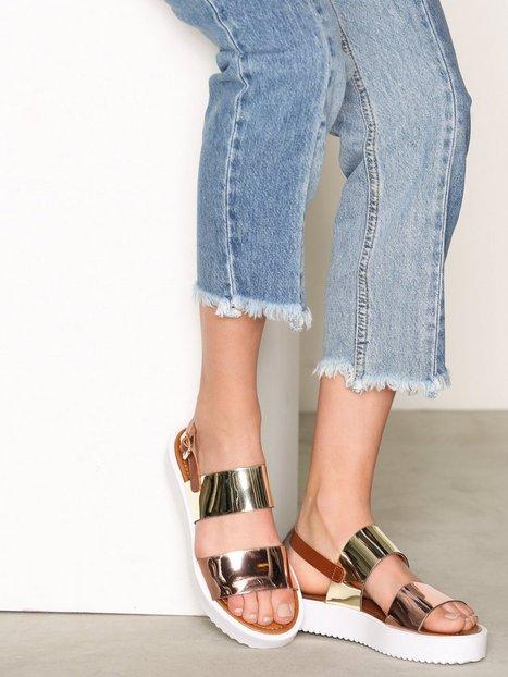 Billede af Bianco Flatform Strap Sandal Sandaler Guld
