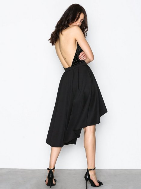 Pleated High Low Skirt