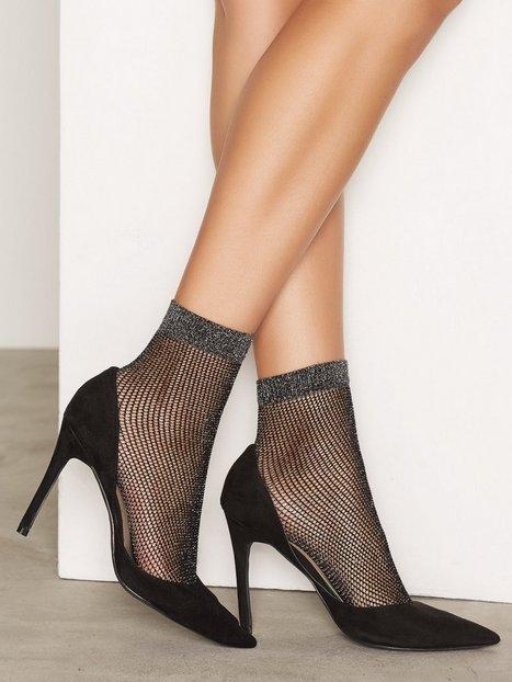 Billede af NLY Lingerie 2-Pack Lurex Fishnet Sock Strømper Sort/Sølv
