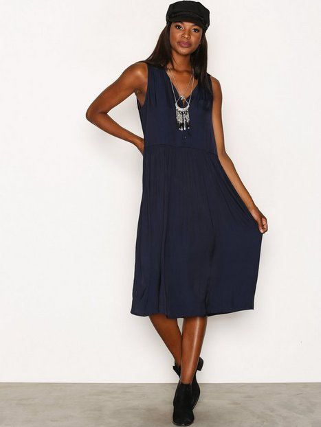 Billede af American Vintage V Midi Oversized Dress Loose fit dresses Marine