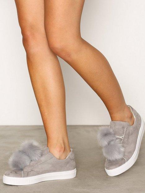 Billede af Bianco Pom Pom Sneakers Slip-On Grå